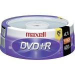 Maxell 639008 16x DVD+R Media 4.7GB 15 Pack