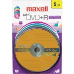 Maxell 639031 16x DVD+R Media 4.7GB 120mm Standard 5 Pack Blister Pack