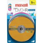 Maxell 638033 16x DVD-R Media - 4.7GB - 120mm Standard - 5 Pack Blister Pack