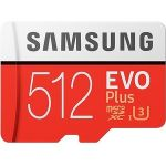 Samsung MB-MC512GA/AM EVO Plus 512GB microSDXC Class 10/UHS-I (U3) 100MB/s Read 90MB/s Write