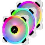 Corsair CO-9050092-WW  LL Series LL120 RGB 120mm Dual Light Loop RGB LED PWM Fan 3 Fan Pack with Lighting Node PRO