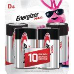 Energizer MAX Alkaline D Batteries 4 Pack