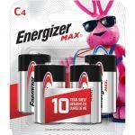 Energizer MAX Alkaline C Batteries 4 Pack