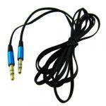 3.5mm Stereo Flat Audio CableM/M 6.5'(2M) Blackwith Metallic Blue