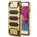 iPhone 6 Dual Layer Inner Gummy & Plastic BackGold Case