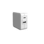 Comkia WCU-008WH 2 Port Wall Charger 5V5.4A1 USB 5V2.4A Max+1 Type C 5V3A Max White