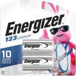 Eneregizer EL123APB2 123 Batteries 3V Lithium 2Pack