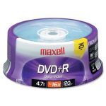 Maxell 639011 DVD Recordable Media - DVD+R - 16x - 4.70 GB - 25 Pack