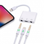 Lightning to Dual 3.5mm Adapter with Charging
