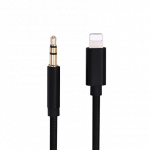 Lightning to 3.5 mm Cable 3' Black