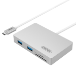 Unitek Y-9319 USB-C 3.0 Multiport Hub with Power Delivery (2x USB3.0 + 2x USB3.0 + SD / Micro SD Card Reader)