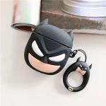 Cartoon character Batman airpod silicon carrycase black