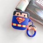 Cartoon character Superman airpod silicon carrycase Dark blue