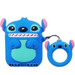 Cartoon character  Stitch airpod silicon carrycase Dark blue