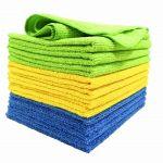 12-PK Microfiber Clean Cloths 4x Blue 4x Yellow4x Green