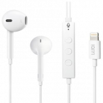 Earphones with Lightning Connector White