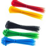 Cable Ties 12*150mm BlackWhiteRedBlue&Green25pcs 6in