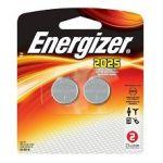 Energizer 2025BP-2 3V Watch/Electronics BatteriesLithium (Li) - 3 V DC - 2 / Pack