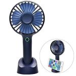 Portable Re-chargeable Mini Fan w/ Phone StandBlue