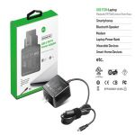 KFD 45W USB-C PD Wall Charger for HP Macbook Lenovo Asus Nintendo Switch black