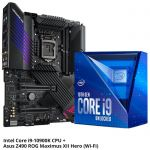Intel i9-10900K Retail Box CPU with Asus Z490 ROG Maximus XII hero (Wi-Fi) Motherboard Bundle