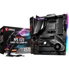MSI X570GPCARBWIFI MPG X570 Gaming Pro Carbon Wi-Fi Motherboard AMD Ryzen 9 AM4 X570 128GB Max RAM