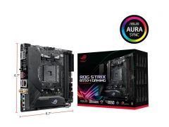 Asus ROG STRIX B550-I GAMING Mini-ITX Motherboard Socket AM4 AMD B550 Chipset DDR4 5000MHz (Max 64GB) 2x M.2 Slots USB 3.2 Ge