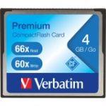 Verbatim 4GB 66X Premium CompactFlash Memory Card - 1 Card/1 Pack - Retail