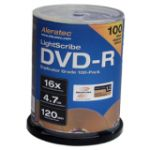 Dell Aleratec LightScribe 16x DVD-R Media - 4.7GB - 120mm Standard - 600 Pack Spindle