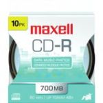 Maxell 48x CD-R Media - 700MB - 120mm Standard - 10 Pack Spindle