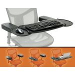 MOBO CHAIR MOUNT ERGO KEYBOARD AND MOUSE TRAY SYSTEM - 2.5in Height x 12.5in Width x 7.5in Depth - Black