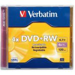 Verbatim DVD+RW 4.7GB 4X with Branded Surface - 1pk Jewel Case - 2 Hour Maximum Recording Time