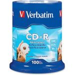 Verbatim CD-R 700MB 52X with Blank White Surface - 100pk Spindle