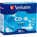 Verbatim AZO CD-R 700MB 52X DataLifePlus with Branded Surface - 10pk Slim Case - 120mm - 1.33 Hour Maximum Recording Time