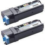 Dell Original Toner Cartridge - Black - Laser - 6000 Pages - 2 Pack