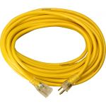 Southwire 2886 Yellow Jacket 25' Extension CordGrounded 3-Prong Lighted Receptable End 14 Gauge 15A UL Listed