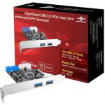 Vantec UGT-PC345 4-Port SuperSpeed USB 3.0 PCI Express Host Card with Internal 20-Pin Connector