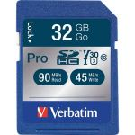 Verbatim 32GB Pro 600X SDHC Memory Card  UHS-1 U3 Class 10 - Class 10/UHS-I - 1 Card - 600x Memory Speed