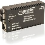 Transition Networks Mini Gigabit Ethernet Media Converter - 1 x Network (RJ-45) - 1 x SC Ports - 10/100/1000Base-T  1000Base-SX - Desktop  Wall Mountable  Rack-mountable