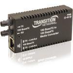 Transition Networks Mini Fast Ethernet Media Converter - 1 x Network (RJ-45) - 1 x SC Ports - 10/100Base-TX  100Base-FX - Wall Mountable  Rack-mountable  Desktop