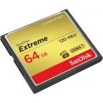 SanDisk Extreme 64 GB CompactFlash - 120 MB/s Read - 60 MB/s Write - 400x Memory Speed - Lifetime Warranty