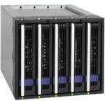 Icy Dock FatCage MB155SP-B 5x3.5in in 3x5.25in Hot Swap SATA HDD Cage - 5 x HDD Supported - Serial ATA/600 Controller - RAID Supported - 5 x Total Bays - 5 x 3.5in Bay - Internal