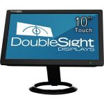 DoubleSight Displays 10in USB LCD Monitor with Touch Screen TAA - 1024 x 600 - WSVGA - Adjustable Display Angle - 262000 Colors - 500:1 - 200 Nit - USB - Black - 3 Year