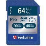 Verbatim 64GB Pro 600X SDXC Memory Card  UHS-1 Class 10 - 64GB SDXC - 1pk