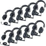 Califone 3068AV-10L Switchable Headphones Classpack - Stereo - Black - Mini-phone - Wired - 36 Ohm - Over-the-head - Binaural - Circumaural - 10 ft Cable
