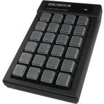 Genovation Mechanical Switch Controlpad 24Key Usb Hid 6Ft Cable - Cable Connectivity - USB Interface - 24 Key - Mechanical Keyswitch - Black