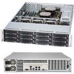 Supermicro SuperStorage 6028R-E1CR12N Barebone System - 2U Rack-mountable - Intel C612 Express Chipset - Socket LGA 2011-v3 - 2 x Processor Support - Black - 1.50 TB DDR4 SDRAM DDR4-213