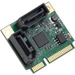 IO Crest Half Height 2 Port SATA III RAID Mini PCI-e 2.0 Card - This half size 2 port Mini PCI-Express to SATA III Controller Cards allows you to add 2 SATAIII connections to a small fo