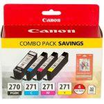 Canon 0373C005 PGI-270/CLI-271 Original Ink Cartridge Black Cyan Magenta Yellow 4 Pack