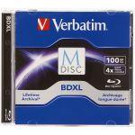 Verbatim 98912 Blu-ray Recordable Media BD-R XL 4x 100GB 1-Pack Jewel Case